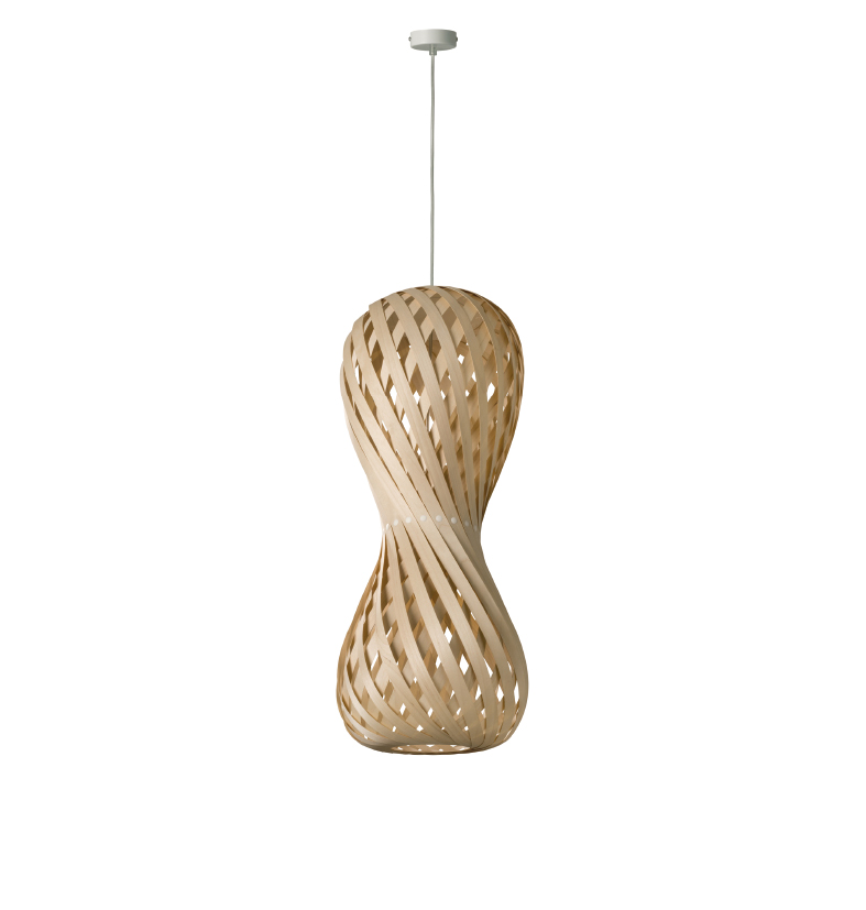 dreizehngrad pendant lamp model Swing 30/70P maple veneer lamp design lamp