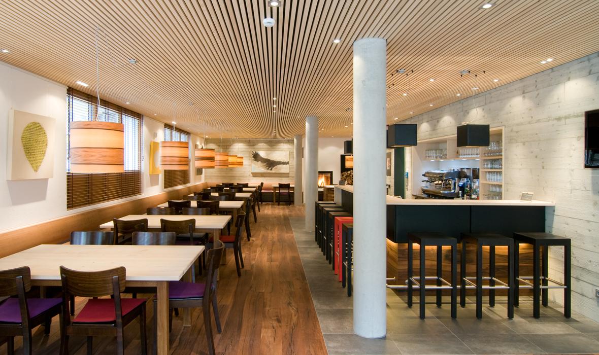 Leporello (Bad Hindelang) - restaurant lighting dreizehngrad pendant lamp model Funk 40/40P projects veneer lamp design lamp