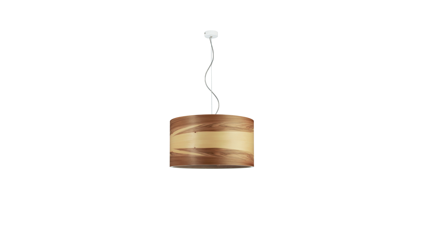 dreizehngrad pendant lamp model Funk 40/22P satin walnut veneer lamp design lamp