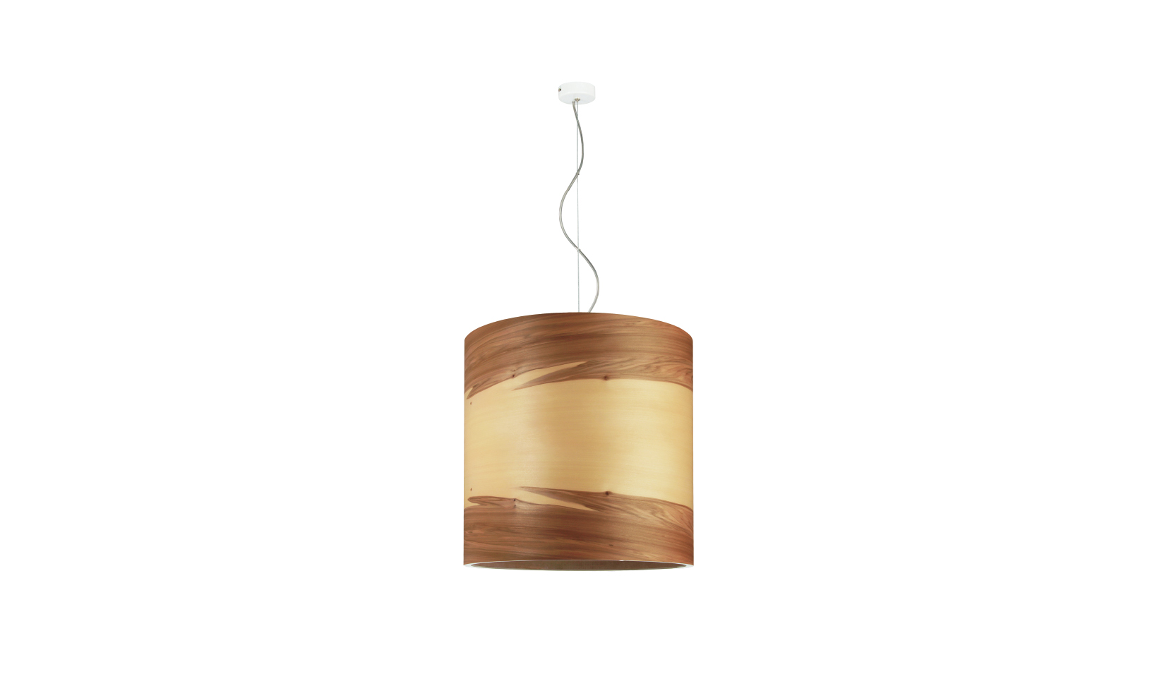 dreizehngrad pendant lamp model Funk 40/40P satin walnut veneer lamp design lamp