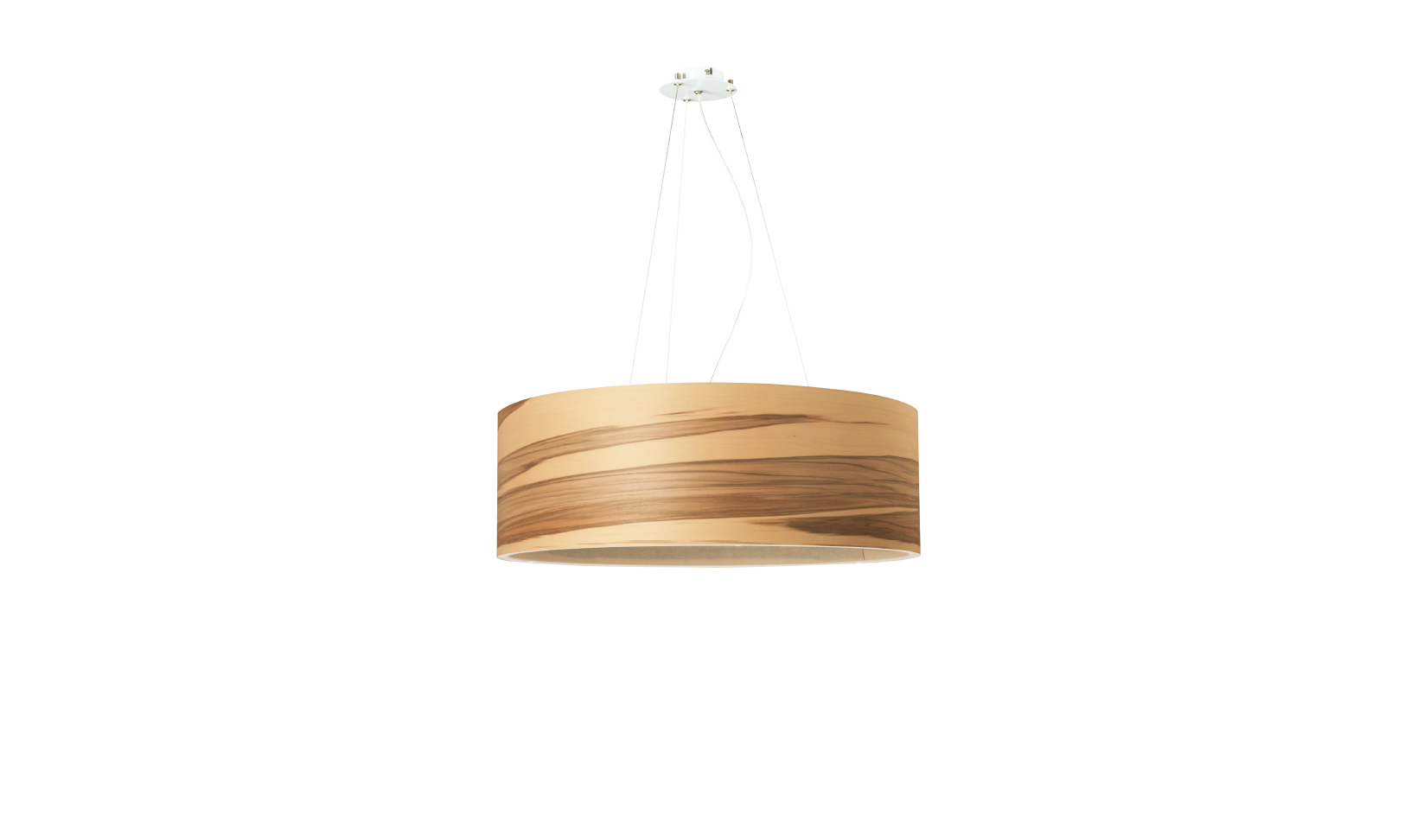 dreizehngrad pendant lamp model Funk 60/20P satin walnut veneer lamp design lamp