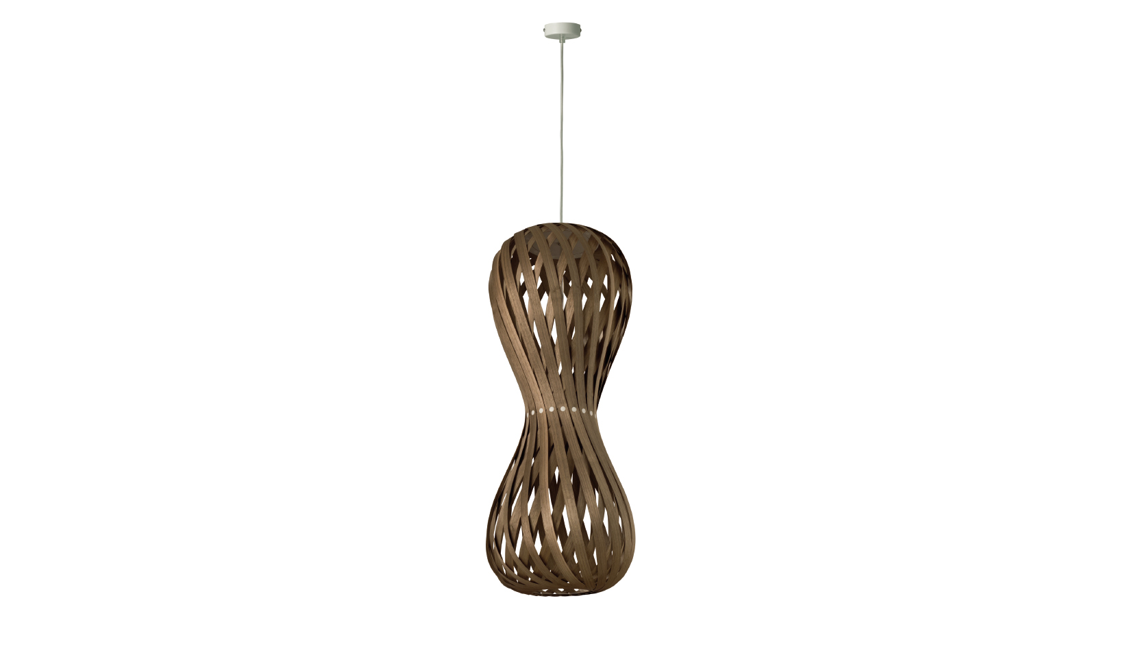 dreizehngrad pendant lamp model Swing 30/70P walnut veneer lamp design lamp