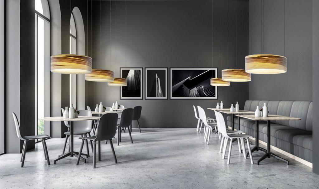 dreizehngrad Pendelleuchte Furnierleuchte Furnierlampe Designleuchte Restaurantbeleuchtung Hotelbeleuchtung