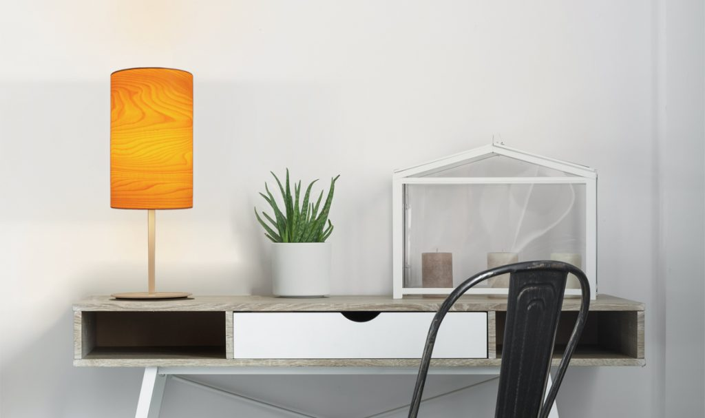 dreizehngrad tischleuchte furnierleuchte holzleuchte designleuchte beleuchtung schlafzimmer Arbeitszimmer