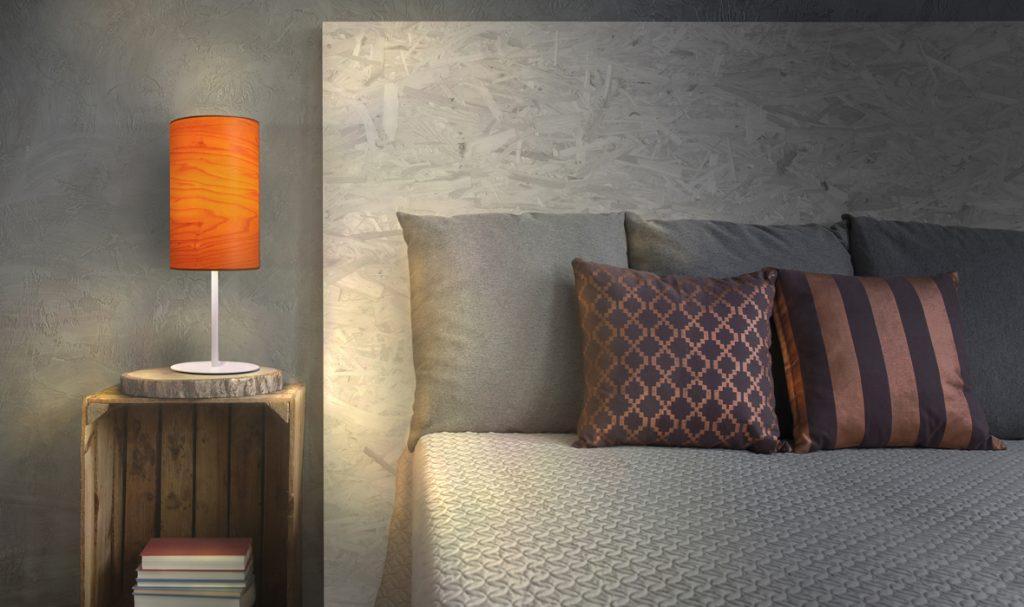 dreizehngrad tischleuchte furnierleuchte holzleuchte designleuchte beleuchtung schlafzimmer