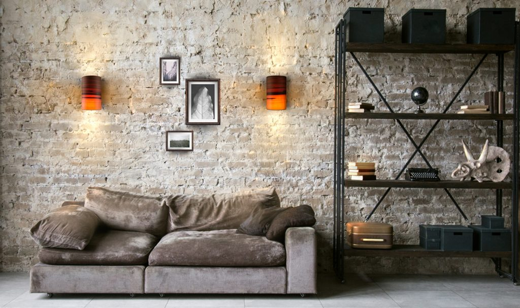 dreizehngrad wandleuchte furnierleuchte designleuchte Beleuchtung Wohnzimmer Loft